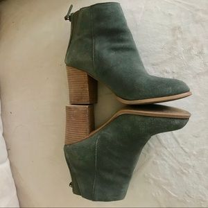 Urban Outfitters Heeled Green Booties
